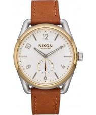 Nixon A459-2548 Mens C39 reloj correa de cuero marrón Horween