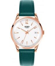 Henry London HL39-S-0132 Damas stratford blanco reloj de color verde pato silvestre