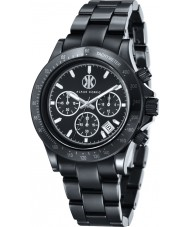 Klaus Kobec KK-10015-01 negro reloj cronógrafo de cerámica Racer