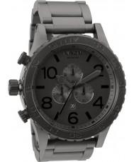 Nixon A083-1062 Para hombre reloj cronógrafo de acero negro mate 51-30