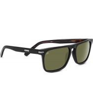 Serengeti Carlo negro brillante gafas de sol polarizadas 555nm