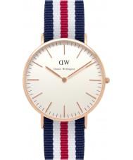 Daniel Wellington DW00100002 Mens clásico 40mm Canterbury rosa reloj de oro