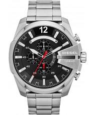 Diesel DZ4308 Mega jefe de reloj cronógrafo de acero negro para hombre