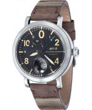 AVI-8 AV-4038-01 reloj de la correa de cuero marrón para hombre del bombardero Lancaster