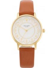 Kate Spade New York 1YRU0835 Señoras del reloj de la correa de cuero marrón de metro