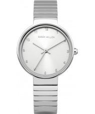 Karen Millen KM131SM Las señoras reloj pulsera de acero de plata