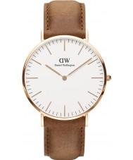Daniel Wellington DW00100109 Durham 40mm clásica rosa reloj de oro