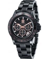 Klaus Kobec KK-10015-02 negro reloj cronógrafo de cerámica Racer