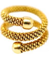 Babette Wasserman RG230G-L Las señoras anillo de la serpiente polvo de estrellas - Talla L
