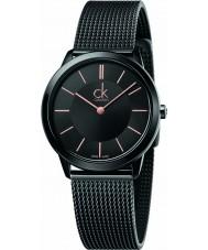Calvin Klein K3M22421 Damas mínima reloj pulsera de malla de acero negro