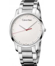 Calvin Klein K2G2G1Z6 ciudad para hombre de acero de plata reloj pulsera
