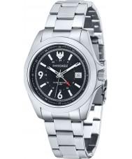 Swiss Eagle SE-9066-11 Reloj para hombre pulsera de acero negro Dufaux