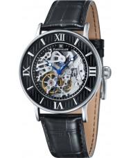 Thomas Earnshaw ES-8038-01 Mens Darwin croco negro reloj de la correa de cuero
