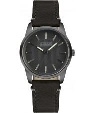 Barbour BB026GNBK reloj de la correa de cuero negro para hombre jarrow