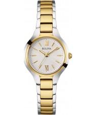 Bulova 98L217 Vestido de las señoras reloj de pulsera de acero de dos tonos
