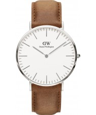 Daniel Wellington DW00100110 reloj de plata de 40 mm clásico Durham