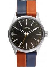 Nixon A377-1957 Mens centinela reloj azul marino oscuro silla de cobre 38