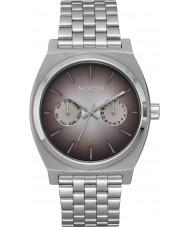 Nixon A922-2564 reloj de pulsera de acero de plata de lujo para hombre del tiempo de cajero