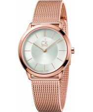 Calvin Klein K3M22626 Damas mínima de malla de oro rosa plateado reloj pulsera