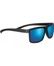 Serengeti Brera lijada negro 555nm polarizada las gafas de sol de espejo azul