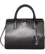 Modalu MH5122-BLACK Señoras de jazmín cuero negro bolsa pequeña de agarre