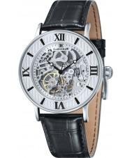 Thomas Earnshaw ES-8038-02 Mens Darwin croco negro reloj de la correa de cuero