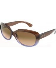 RayBan Rb4101 58 jackie ohh gradiente de color marrón lila 860-51 gafas de sol