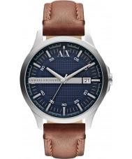 Armani Exchange AX2133 reloj del vestido de la correa de cuero marrón de los hombres