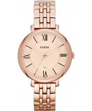 Fossil ES3435 Las señoras Jacqueline rosa reloj pulsera de acero dorado