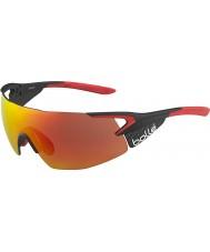 Bolle TNS gafas de sol de color rojo fuego pro brillante mate de carbono quinto elemento
