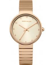 Karen Millen KM131RGM Damas se levantaron reloj pulsera chapado en oro