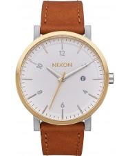 Nixon A945-2548 Reloj para hombre de la correa de cuero tan Horween rollo