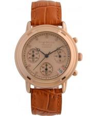 Krug-Baumen 150575DL Principio de diamantes señoras se levantaron reloj cronógrafo de oro