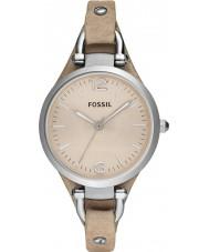 Fossil ES2830 reloj de la correa de cuero de las señoras de la arena de Georgia