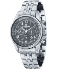 Thomas Earnshaw ES-8028-33 Mens Commodore acero de plata reloj cronógrafo