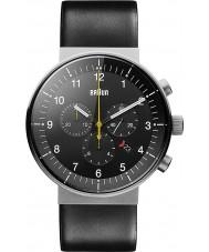 Braun BN0095SLG Para hombre de prestigio reloj cronógrafo negro