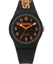 Superdry SYG164B reloj de la correa de silicona negro urbana