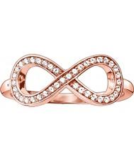 Thomas Sabo Señoras glam y alma rosa anillo de oro