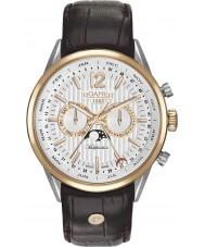 Roamer 508822-49-14-05 Reloj para hombre multifuncional correa de color marrón superior de negocios