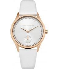 French Connection FC1272WRG reloj de la correa de cuero blanco de las señoras