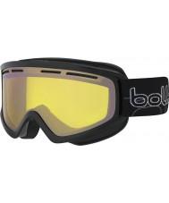 Bolle 21486 Schuss brillante negro - gafas de esquí de armas de limón