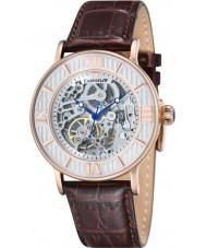 Thomas Earnshaw ES-8038-03 Mens Darwin croco marrón reloj de la correa de cuero