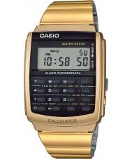 Casio CA-506G-9AEF colección para hombre del reloj de oro tono de la calculadora