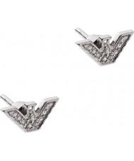 Emporio Armani EG3027040 Damas pendientes de tono de plata de ley
