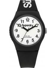 Superdry SYG164BW reloj de la correa de silicona negro blanco urbana