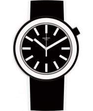 Swatch PNB100 Poplooking reloj correa de silicona negro