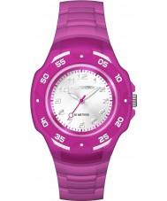 Timex TW5M06600 Cabritos del reloj de la correa de resina de color púrpura maratón