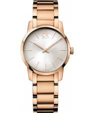 Calvin Klein K2G23646 ciudad damas rosa, PVD reloj de oro