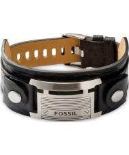 Fossil JF84816040 Para hombre pulsera de cuero negro ocasional de la vendimia