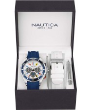 Nautica NAD18530G Mens nst watch set de regalo